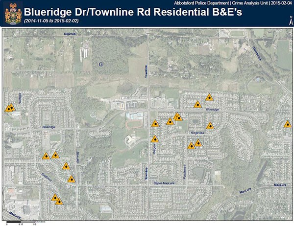 Abbotsford Police record hike in Townline Hill break-ins