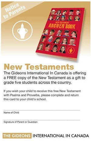 Bible distribution in Abbotsford schools draws criticism