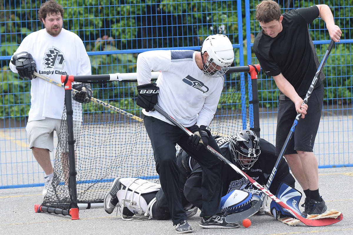 Video And Slideshow Take It To The Streets Ball Hockey Tournament