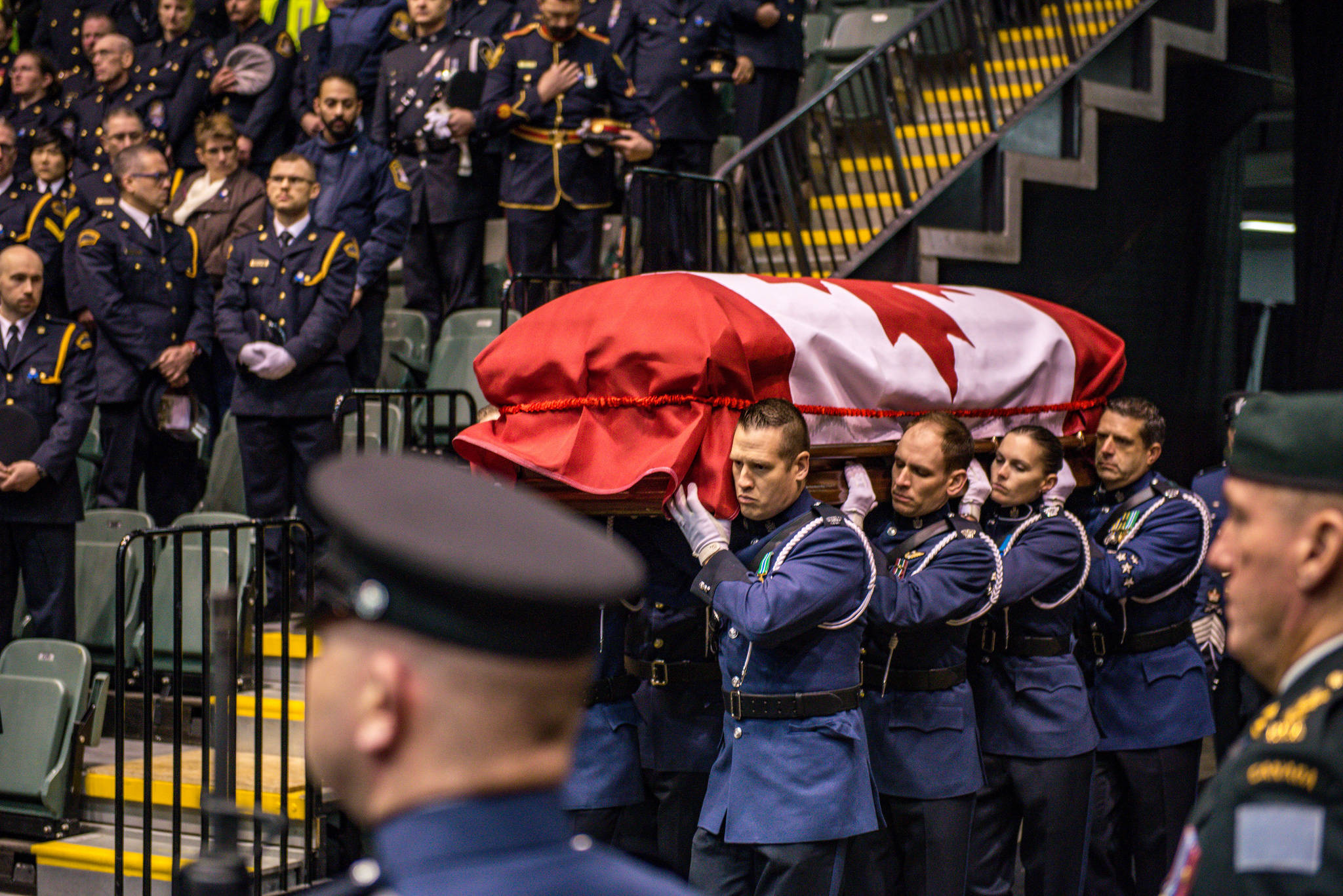 An officer and a gentleman Const John Davidson is laid to rest