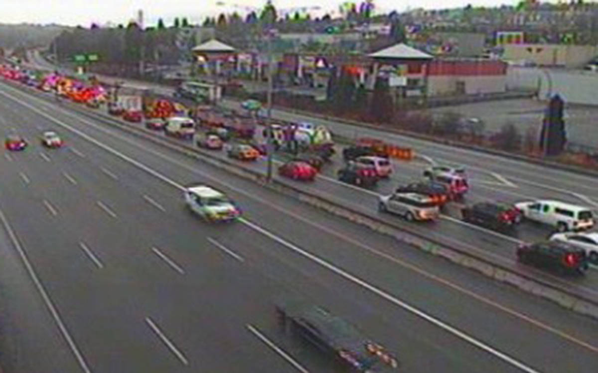 Multi Vehicle Accident In Burnaby Causing Major Delays Along Highway