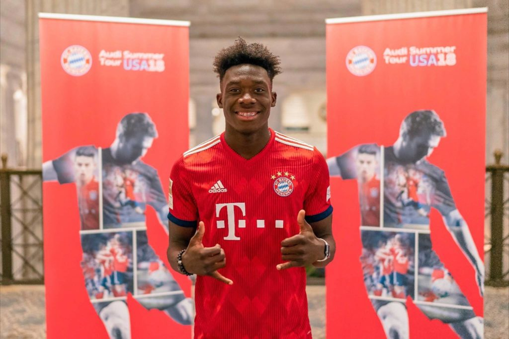 Canadian teenager Alphonso Davies scores first goal for