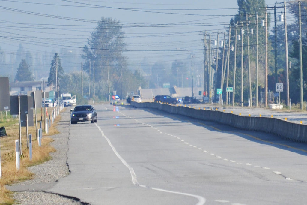 Fatal crash shuts down section of Highway 15 in South Surrey
