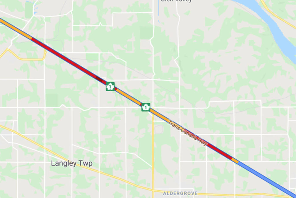 Highway 1 crash in Langley slowing traffic - Abbotsford News