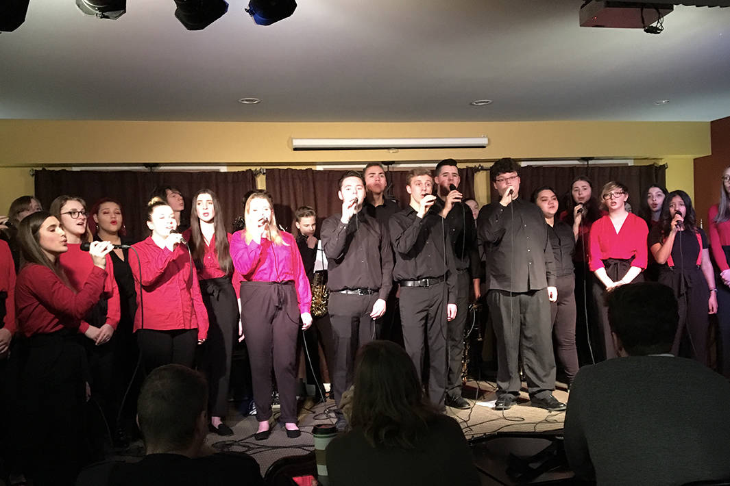Abby Flats Vocal Jazz Ensemble performs at House of James