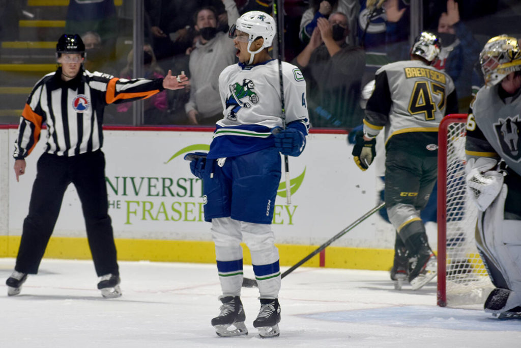 Abbotsford Canucks win first game on home ice - Abbotsford News